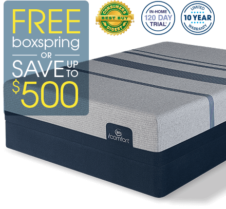 Free boxspring or Save up to $500